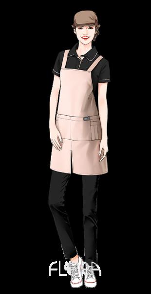 鴨舌帽連身為圍裙3
